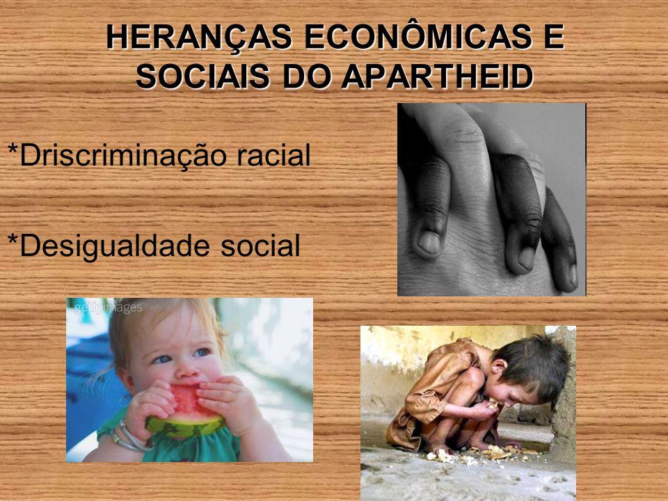 HERANÇAS ECONÔMICAS E SOCIAIS DO APARTHEID