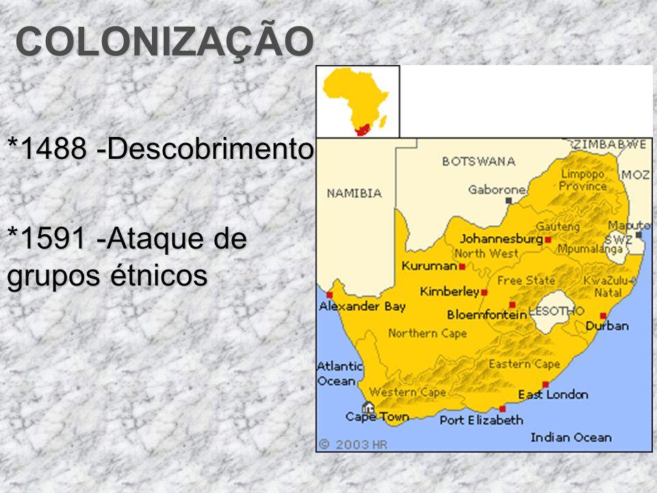 *1488 -Descobrimento *1591 -Ataque de grupos étnicos