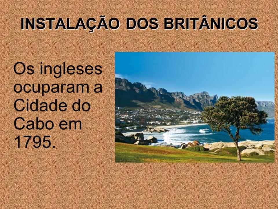 INSTALAÇÃO DOS BRITÂNICOS