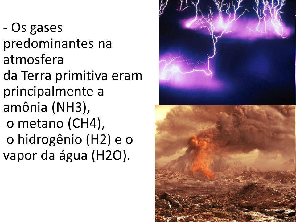 Os gases predominantes na atmosfera