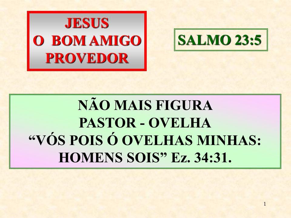 VÓS POIS Ó OVELHAS MINHAS: HOMENS SOIS Ez. 34:31.