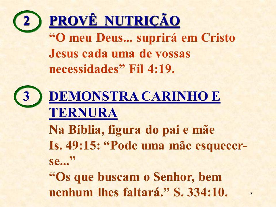 3 DEMONSTRA CARINHO E TERNURA Na Bíblia, figura do pai e mãe