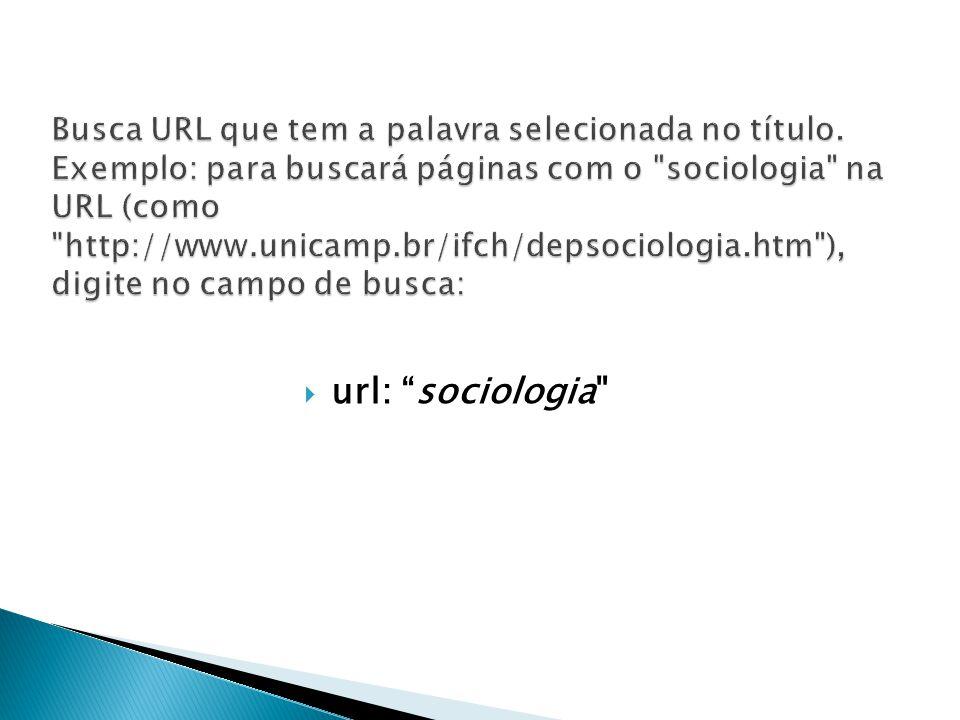 Busca URL que tem a palavra selecionada no título