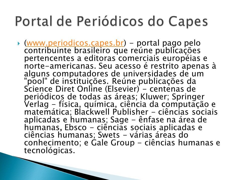 Portal de Periódicos do Capes