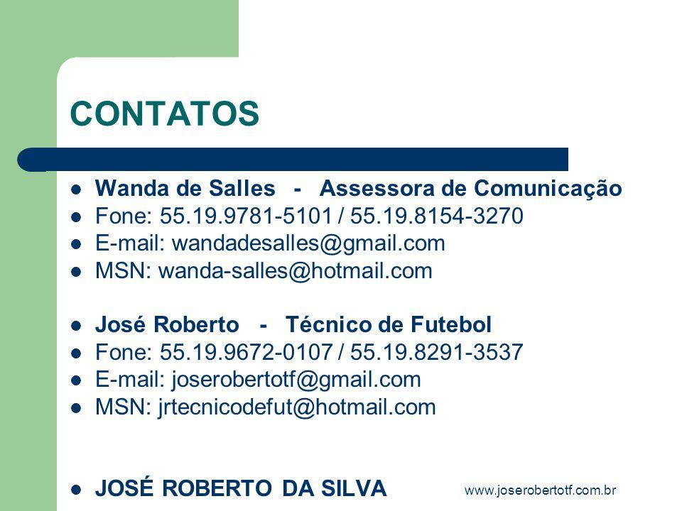 CONTATOS Wanda de Salles - Assessora de Comunicação