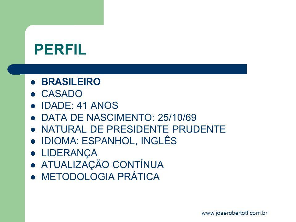 PERFIL BRASILEIRO CASADO IDADE: 41 ANOS DATA DE NASCIMENTO: 25/10/69