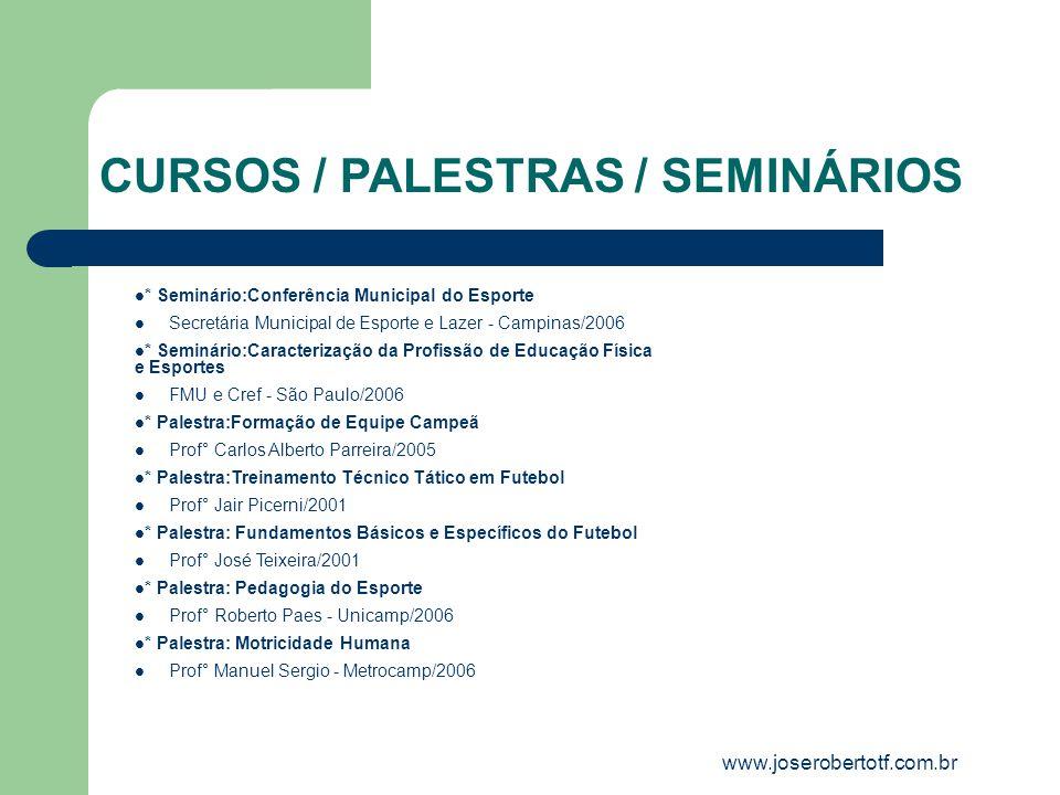 CURSOS / PALESTRAS / SEMINÁRIOS