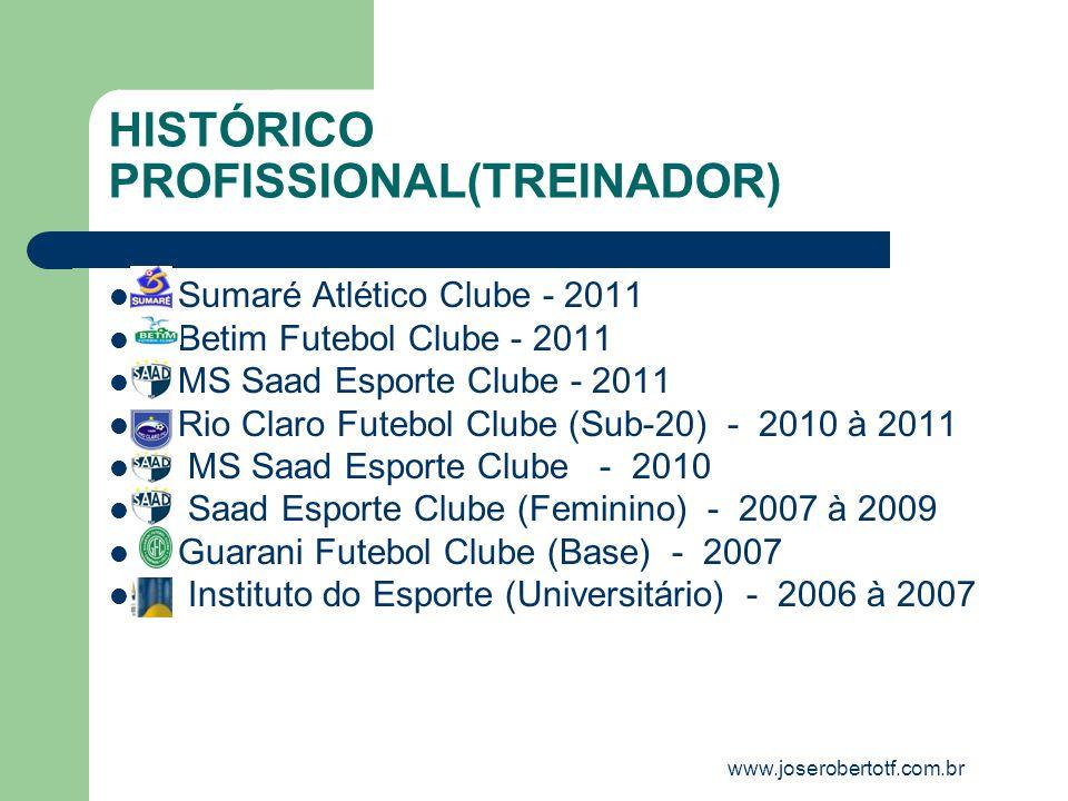 HISTÓRICO PROFISSIONAL(TREINADOR)
