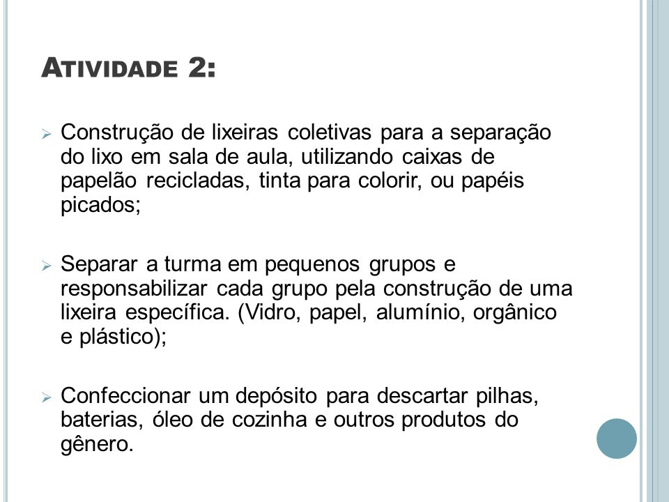 Atividade 2: