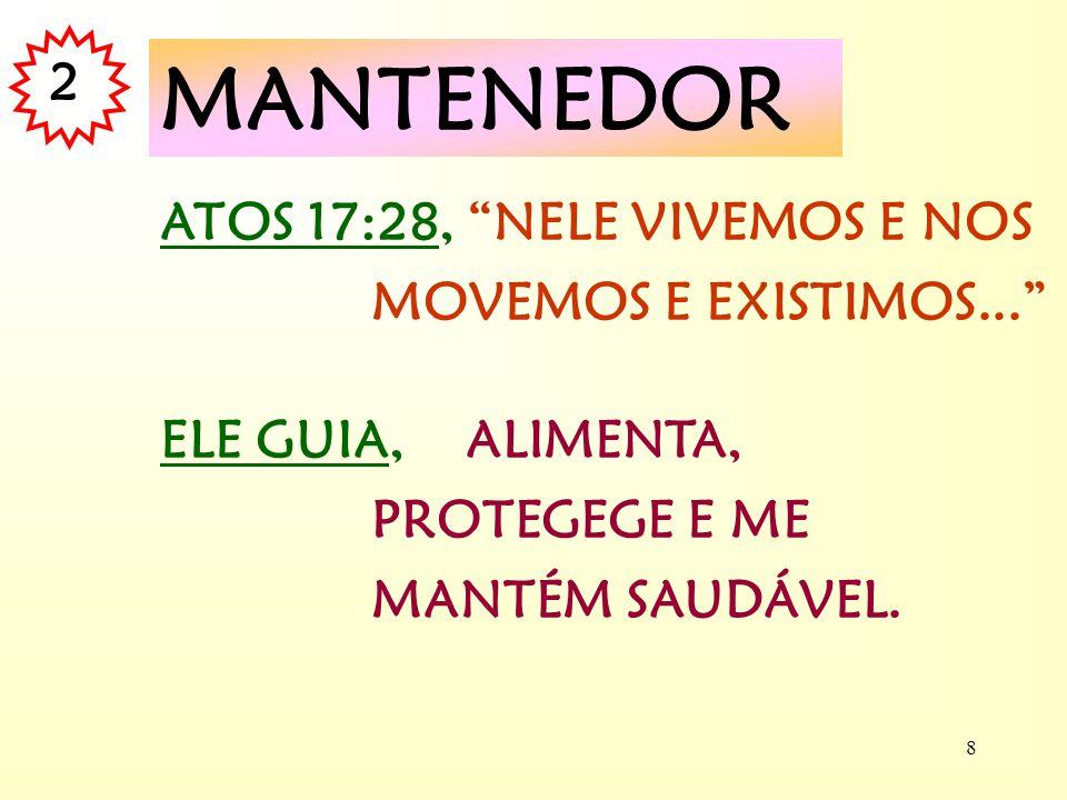 MANTENEDOR 2 ATOS 17:28, NELE VIVEMOS E NOS MOVEMOS E EXISTIMOS...