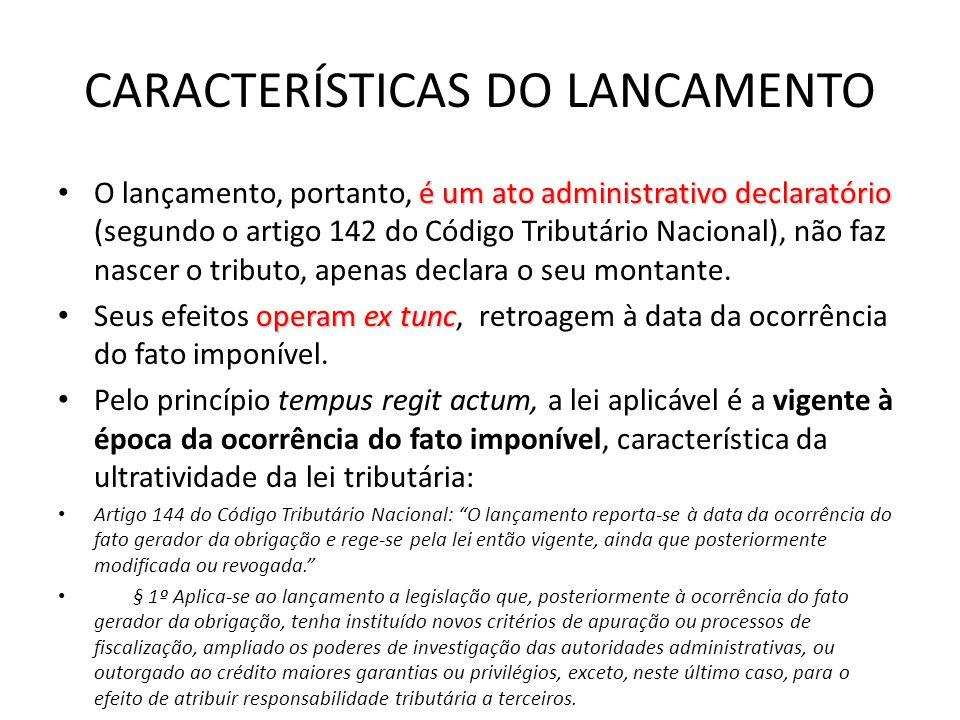 CARACTERÍSTICAS DO LANCAMENTO