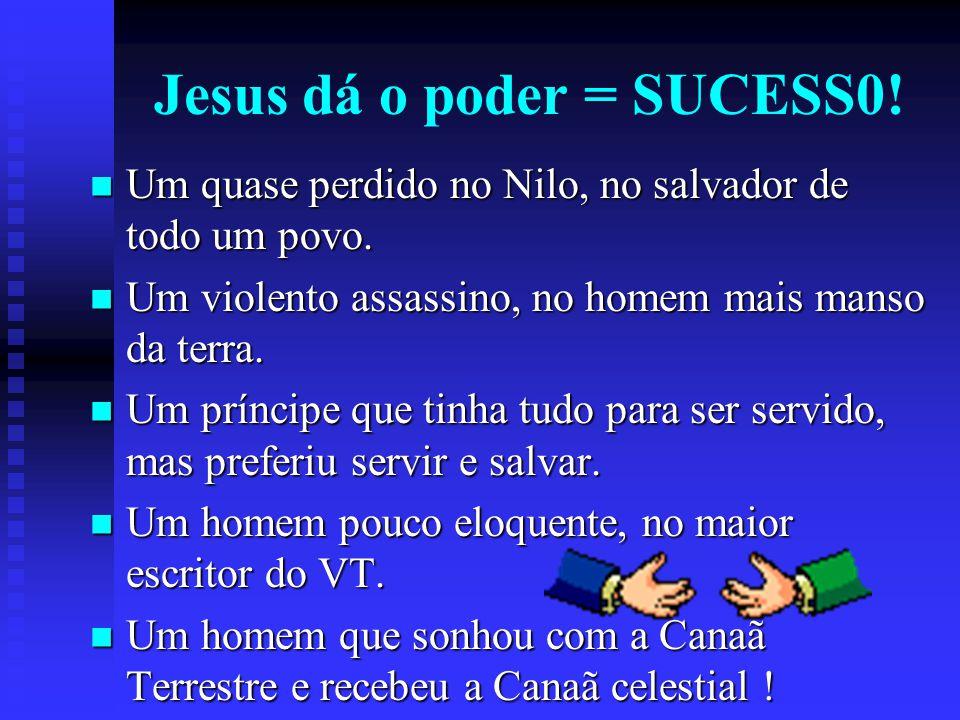 Jesus dá o poder = SUCESS0!