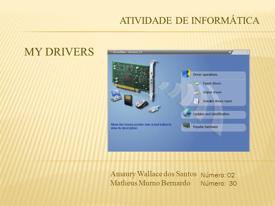MY DRIVERS ATIVIDADE DE INFORMÁTICA Amaury Wallace dos Santos