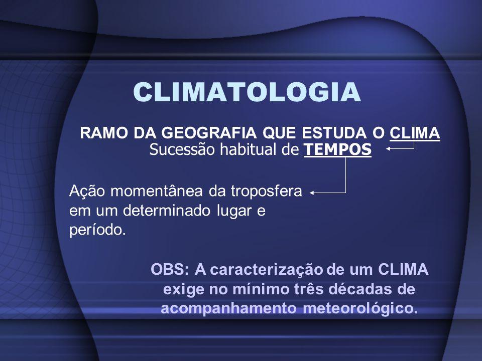 RAMO DA GEOGRAFIA QUE ESTUDA O CLIMA