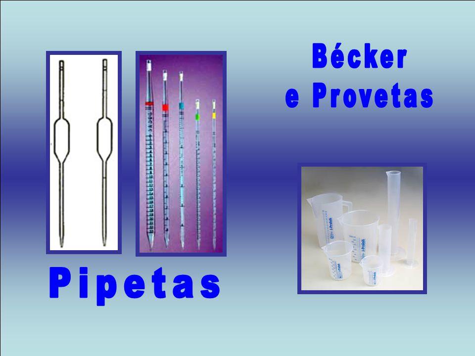 Bécker e Provetas Pipetas