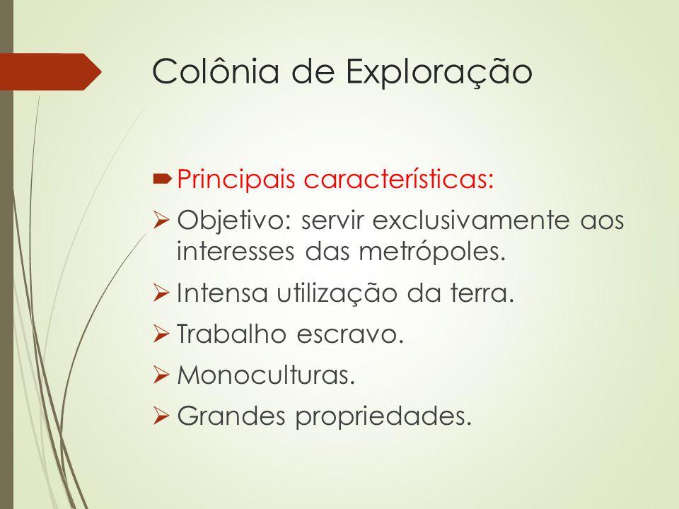 Colônia de Exploração Principais características: