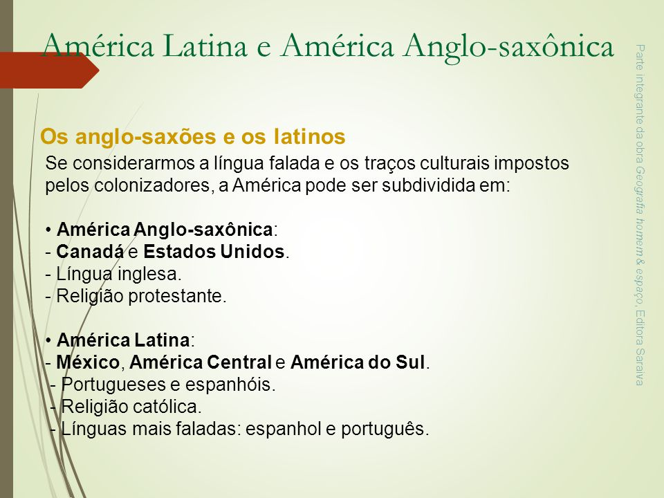 América Latina e América Anglo-saxônica