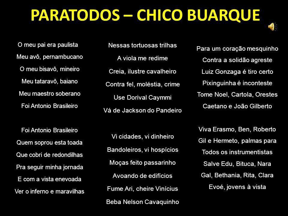 PARATODOS – CHICO BUARQUE