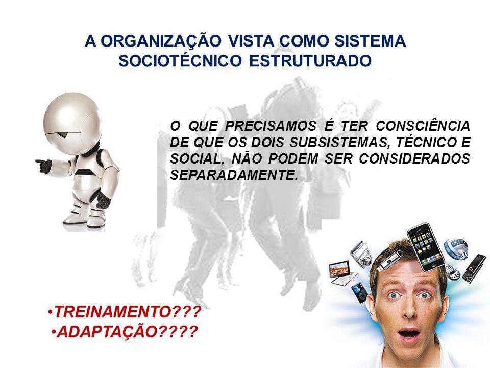 A ORGANIZAÇÃO VISTA COMO SISTEMA SOCIOTÉCNICO ESTRUTURADO