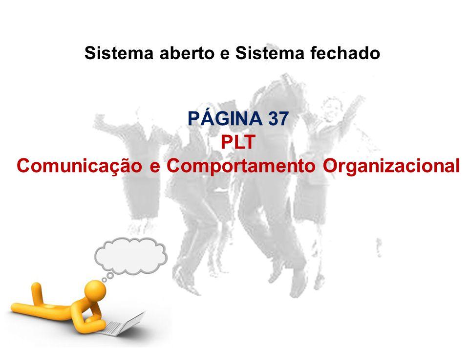PÁGINA 37 PLT Comunicação e Comportamento Organizacional