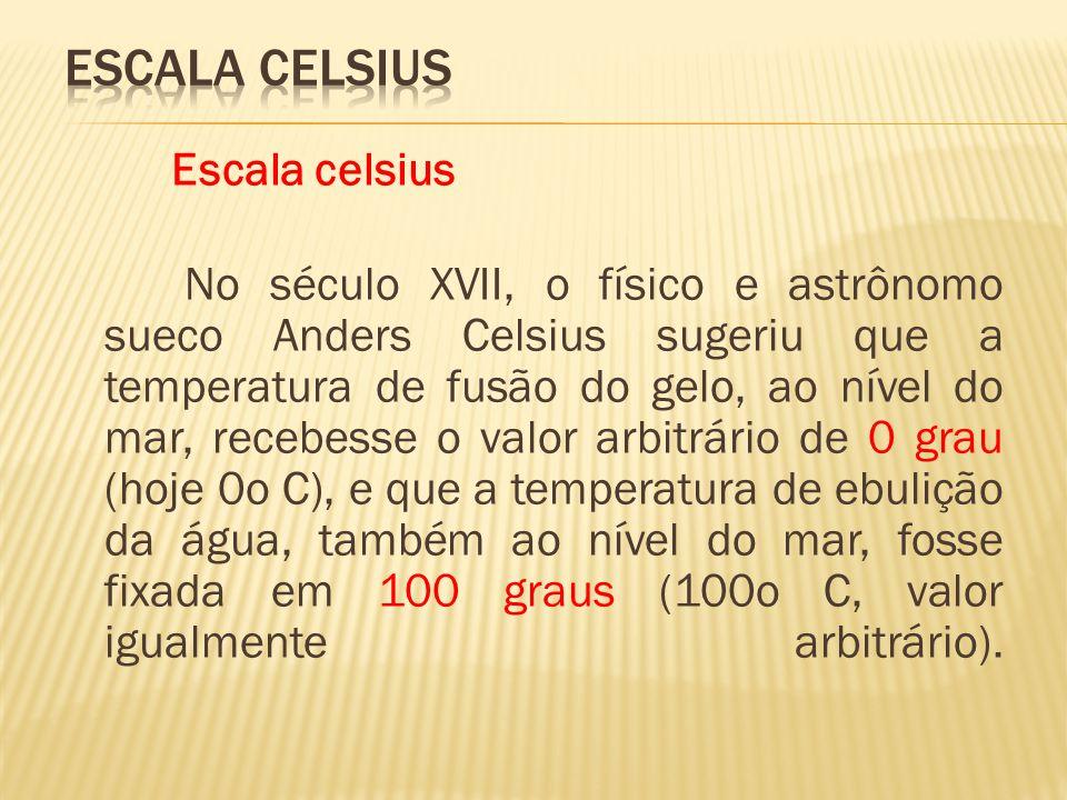 ESCALA CELSIUS