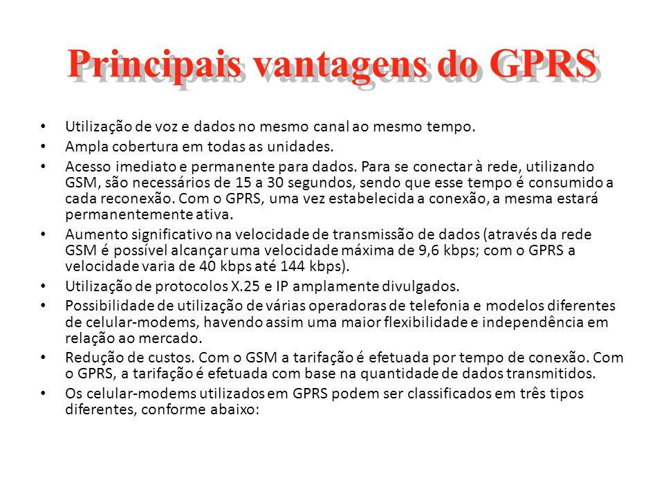Principais vantagens do GPRS