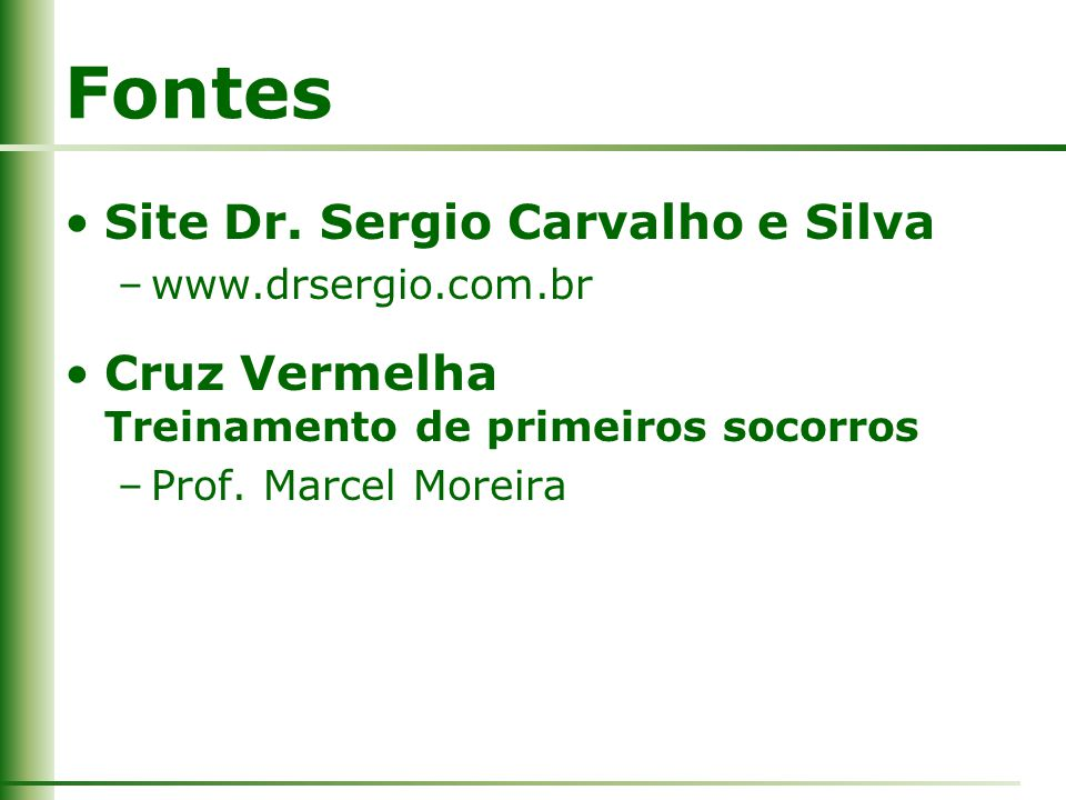 Fontes Site Dr. Sergio Carvalho e Silva