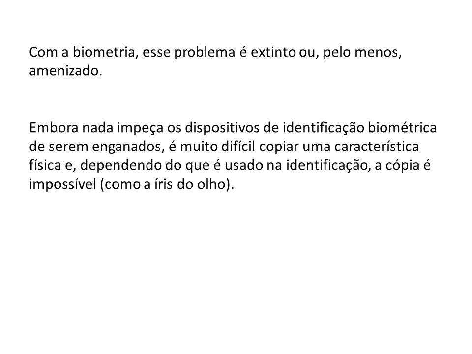 Com a biometria, esse problema é extinto ou, pelo menos, amenizado.