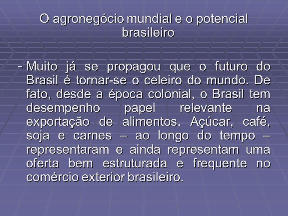 O agronegócio mundial e o potencial brasileiro