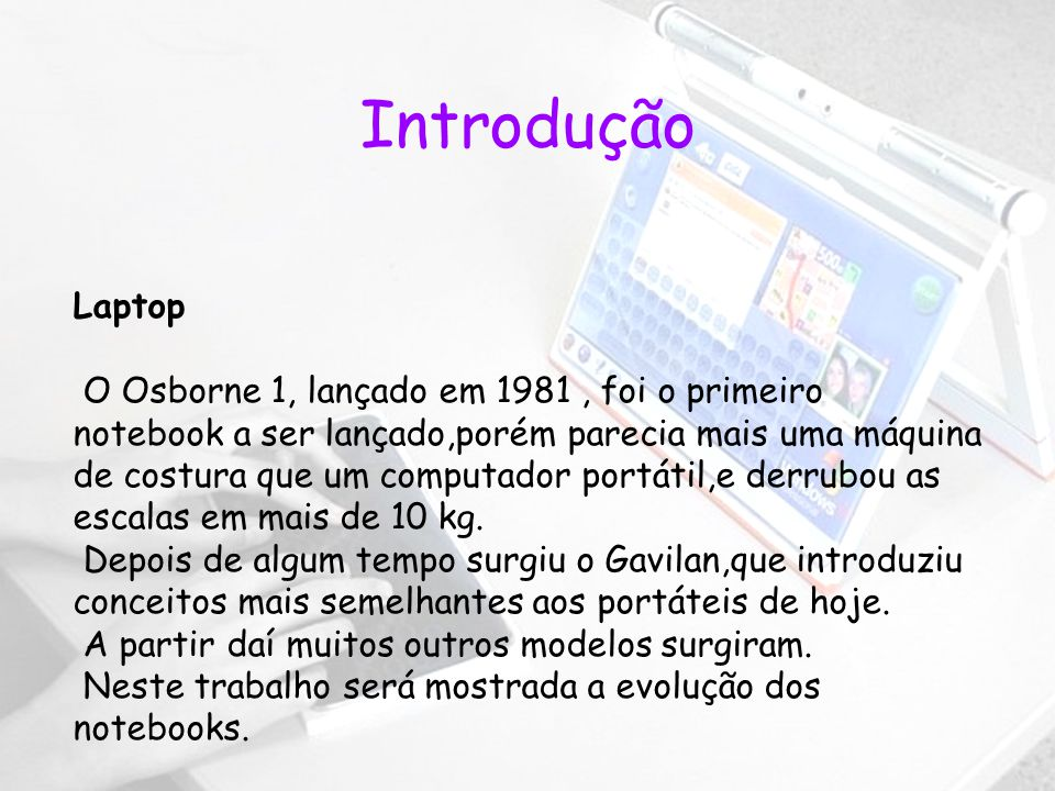 Introdução Laptop.