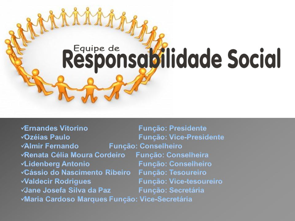 Ernandes Vitorino Função: Presidente