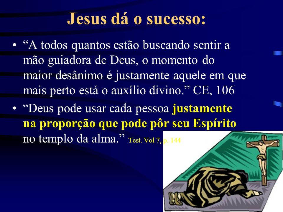 Jesus dá o sucesso: