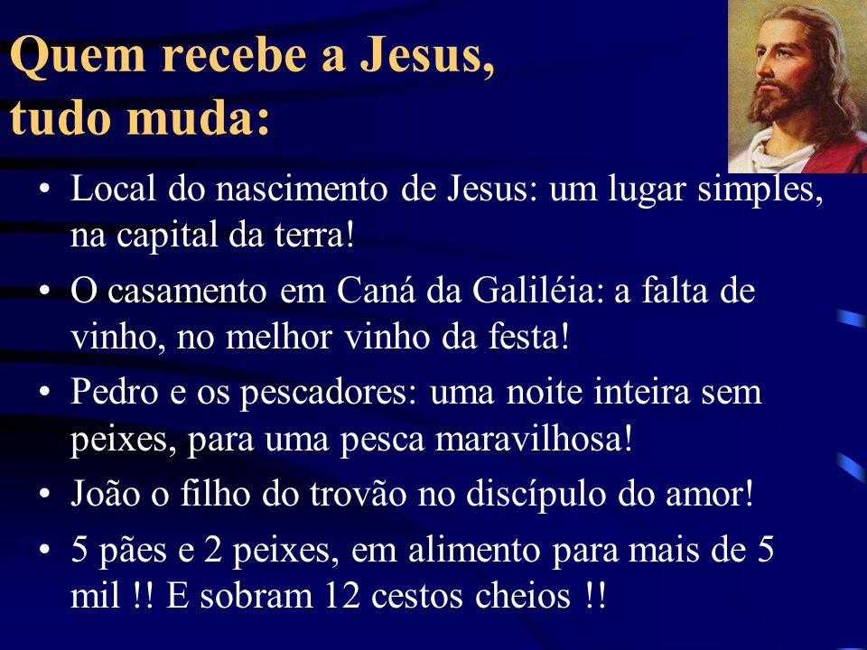 Quem recebe a Jesus, tudo muda: