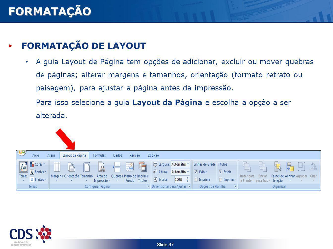 FORMATAÇÃO FORMATAÇÃO DE LAYOUT