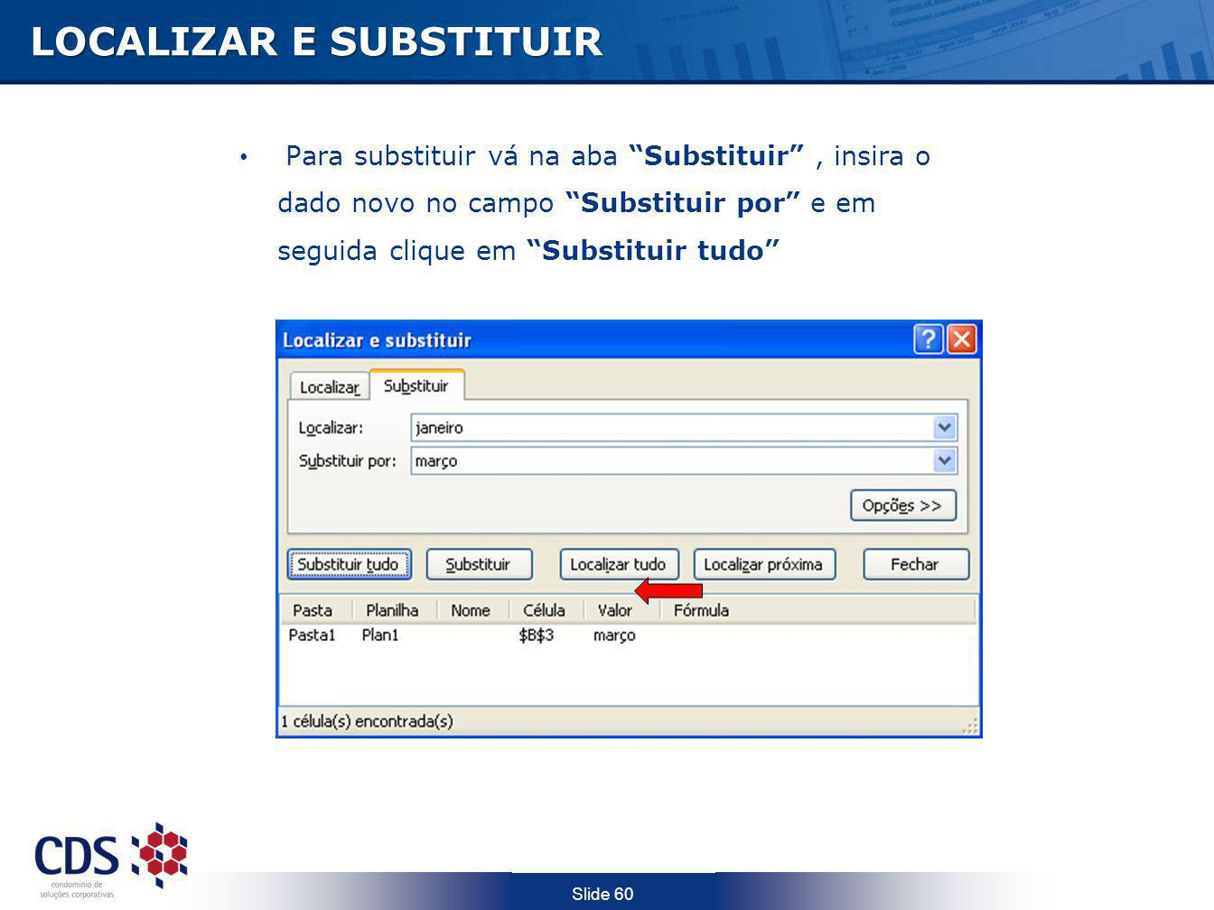 LOCALIZAR E SUBSTITUIR