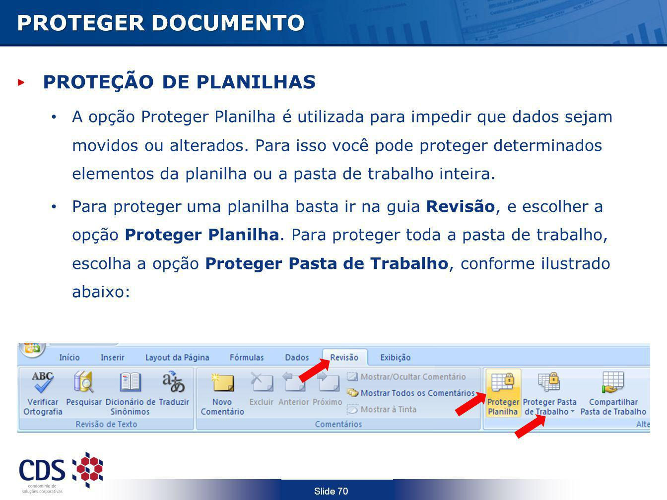 PROTEGER DOCUMENTO PROTEÇÃO DE PLANILHAS