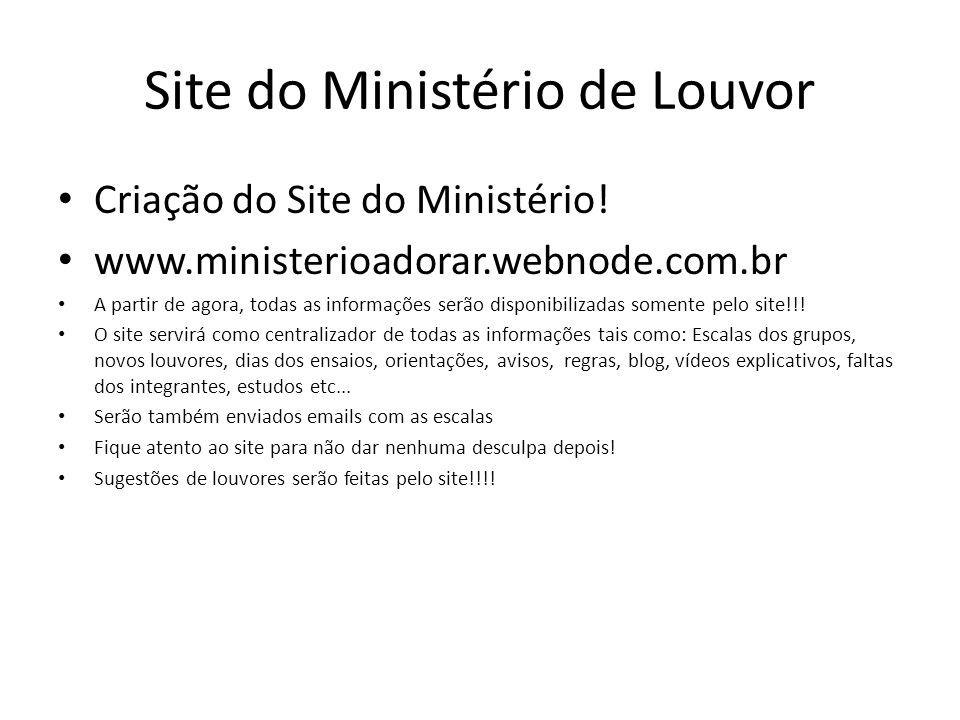 Site do Ministério de Louvor