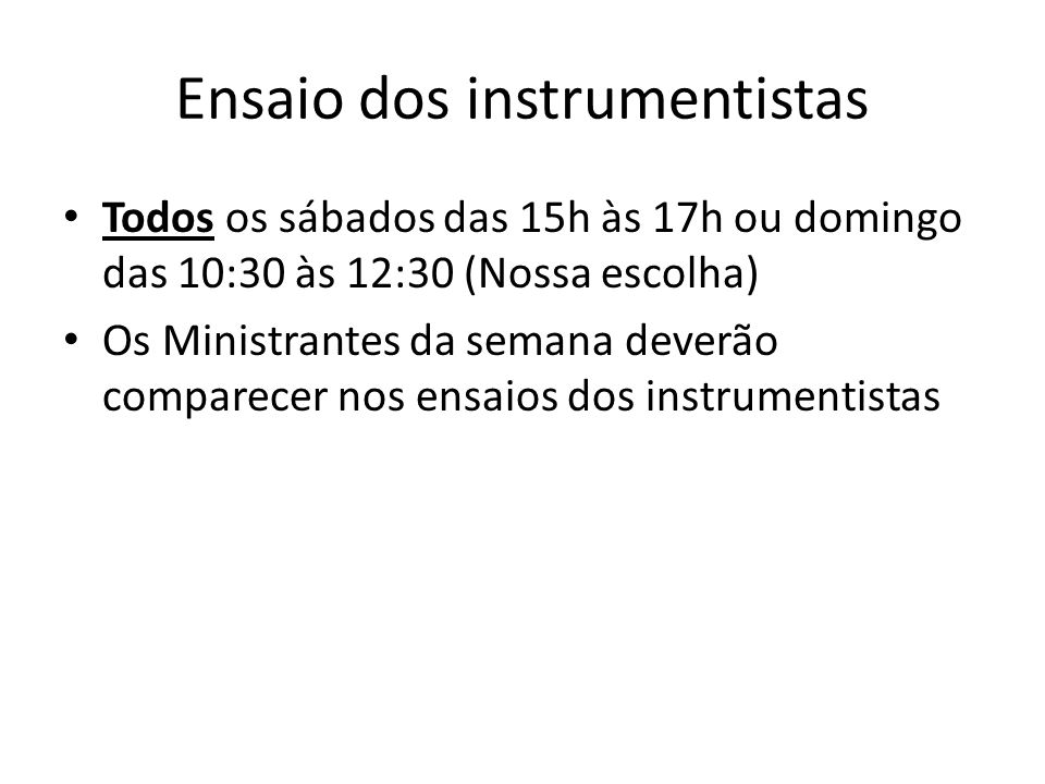 Ensaio dos instrumentistas