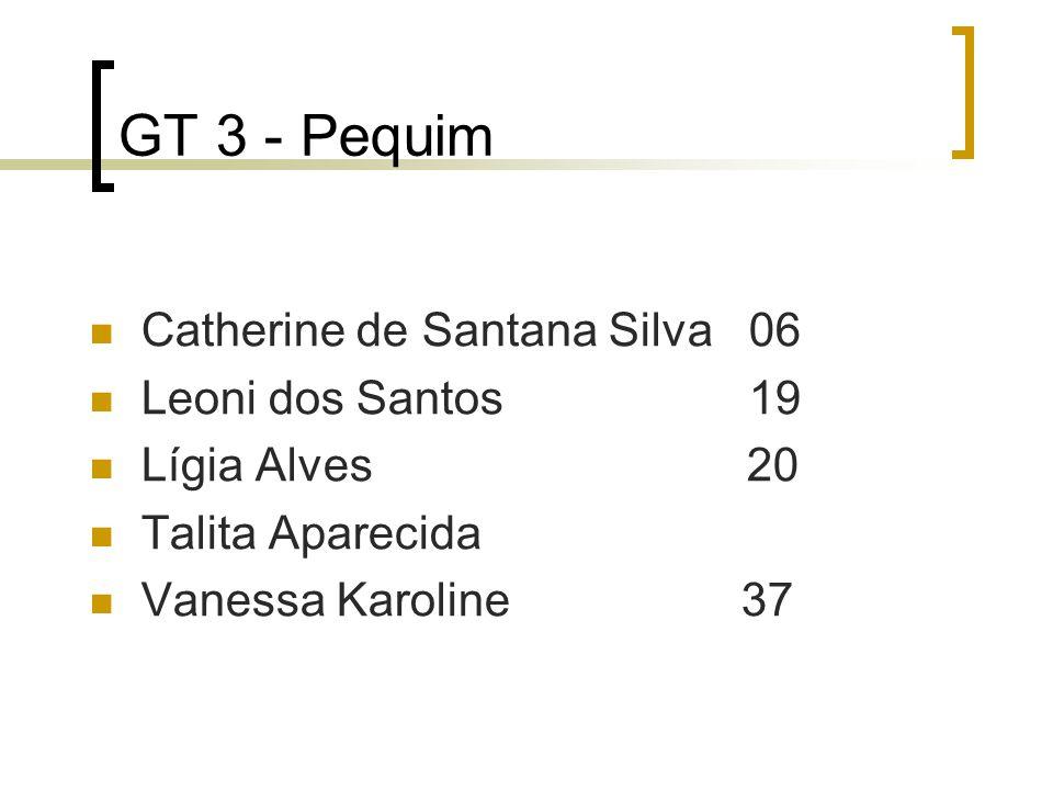GT 3 - Pequim Catherine de Santana Silva 06 Leoni dos Santos 19