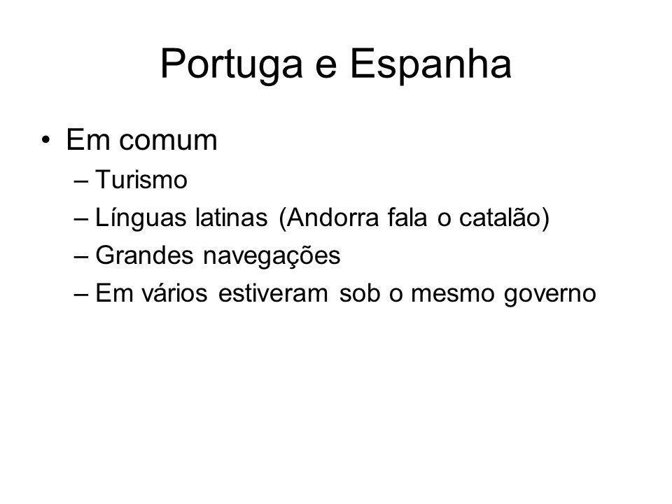 Portuga e Espanha Em comum Turismo