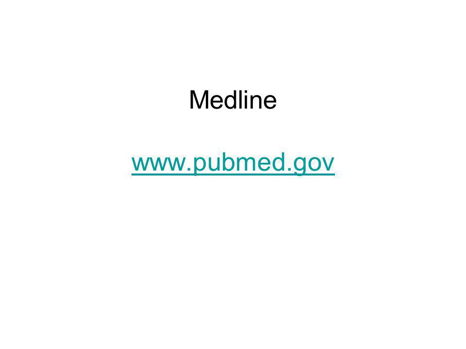 Medline www.pubmed.gov