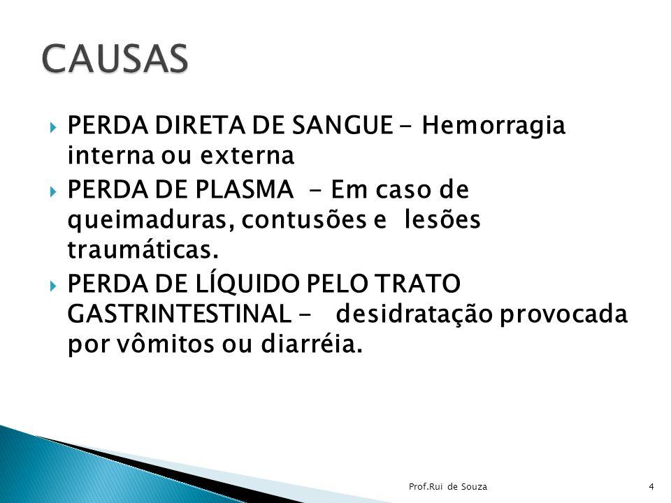 CAUSAS PERDA DIRETA DE SANGUE - Hemorragia interna ou externa