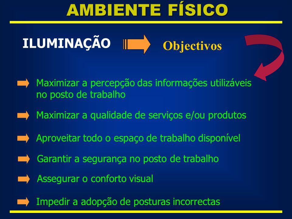 AMBIENTE FÍSICO ILUMINAÇÃO Objectivos