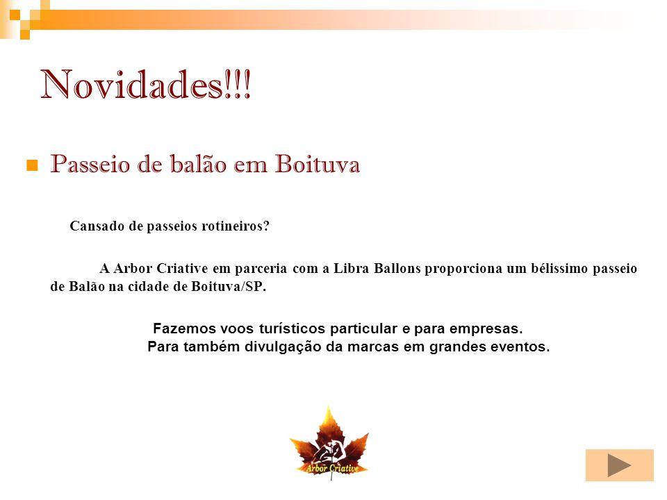 Novidades!!! Passeio de balão em Boituva