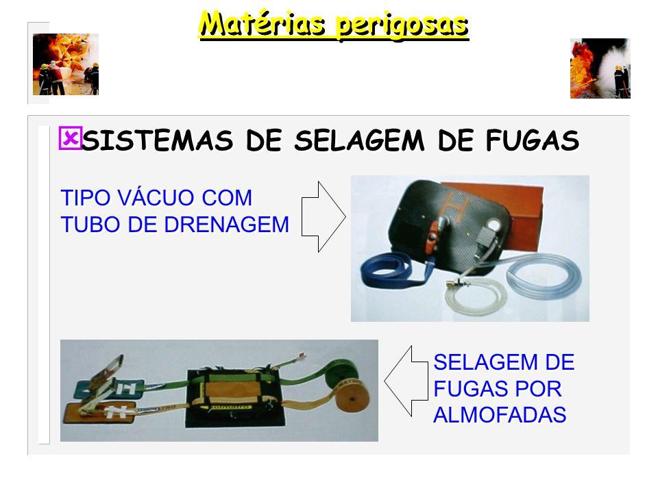 Matérias perigosas SISTEMAS DE SELAGEM DE FUGAS
