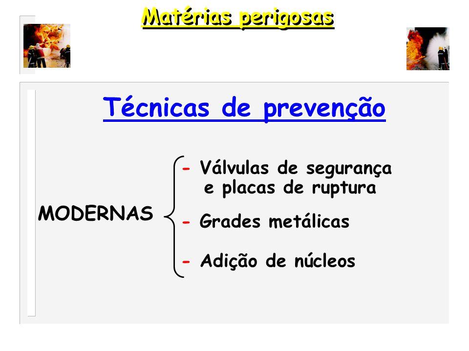 Técnicas de prevenção Matérias perigosas MODERNAS
