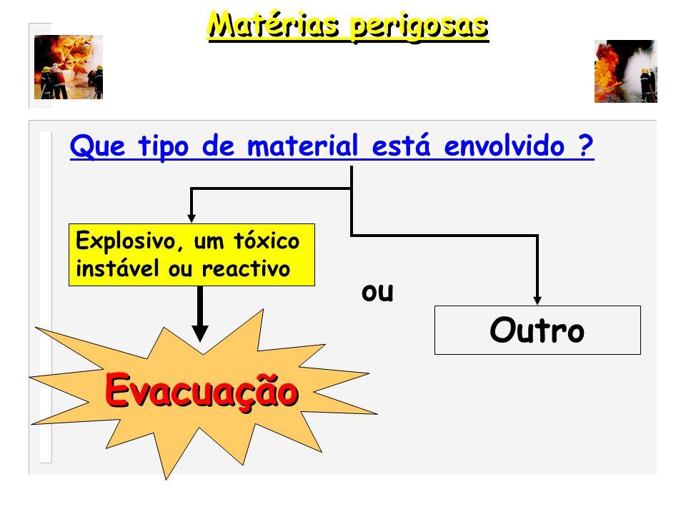 Evacuação Outro Matérias perigosas ou