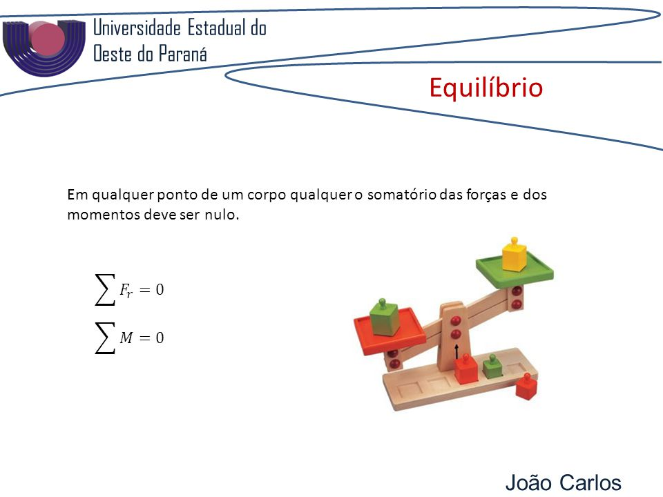 Equilíbrio Universidade Estadual do Oeste do Paraná