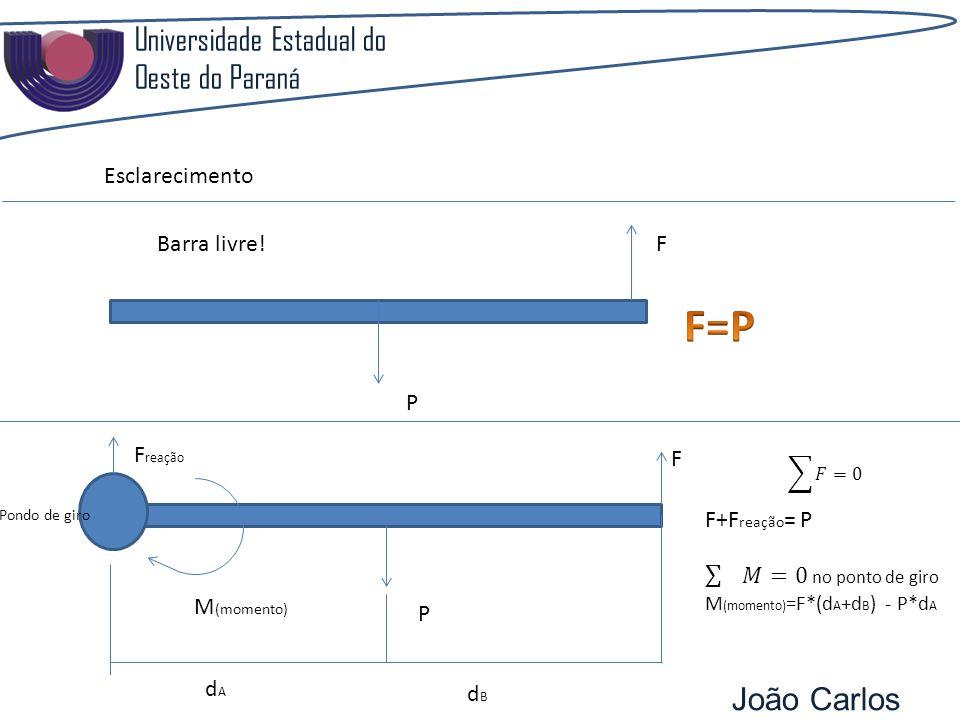 F=P Universidade Estadual do Oeste do Paraná João Carlos Pozzobon