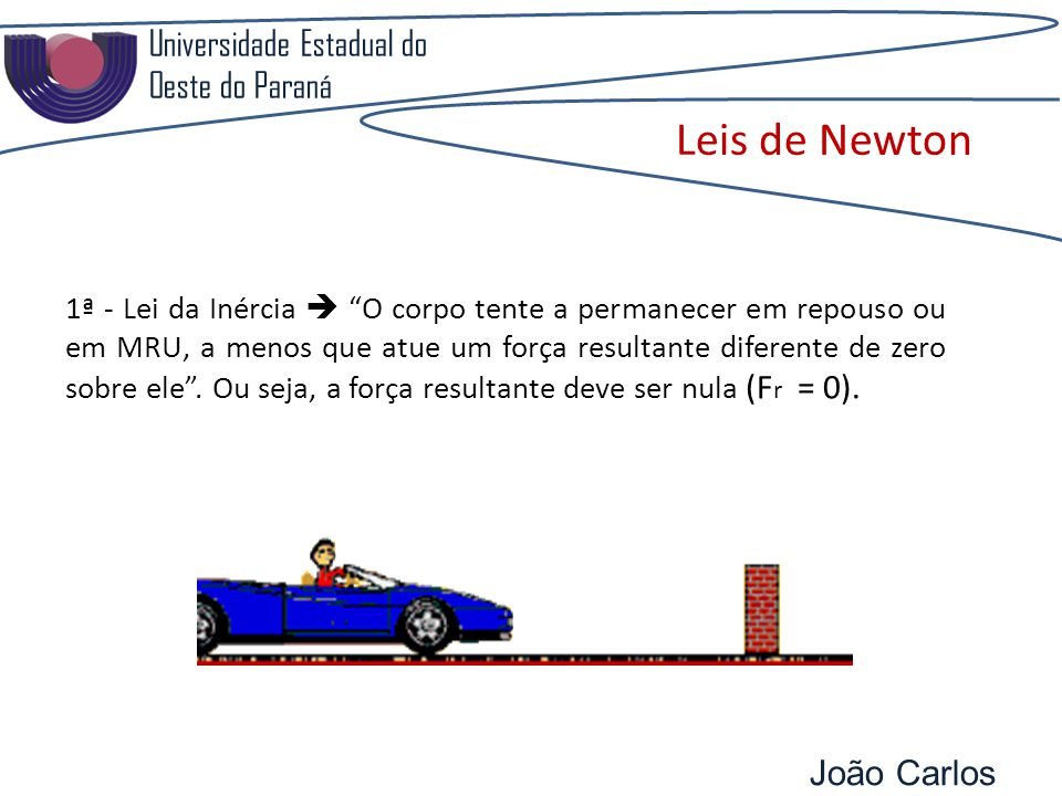 Leis de Newton Universidade Estadual do Oeste do Paraná